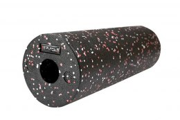 WAŁEK DO ĆWICZEŃ ROLLER FITNESS FS115 BLACK/RED DOTS 45CM /HMS