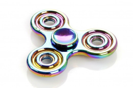 HAND FIDGET SPINNER NEON CHROME CIRCLE